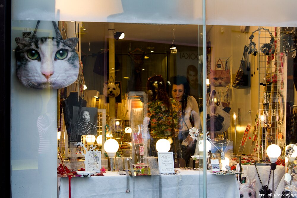 магазин в Парижі, сумка кіт