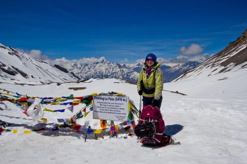 trekking in Nepal, thorong La